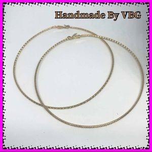 🆕 BIG 9k Gold Hoop Earrings
